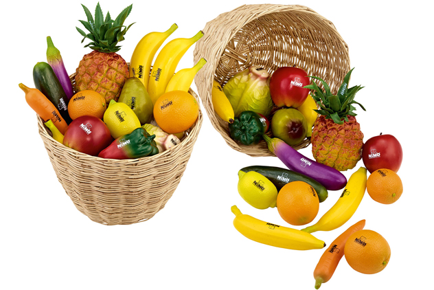 Submerge-Fruit- and Vegetable-Shaped Percussion Shakers