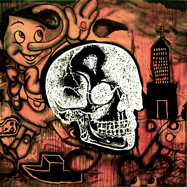 "{Good-Bye • Acrylic on Canvas • 78"" x 78"" • 2012}"