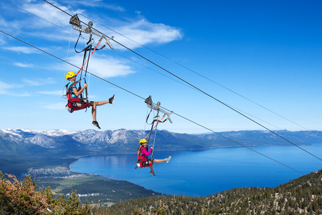 {The Blue Streak Zip-Line at Heavenly  |  Photo by Rachid Danhoun}