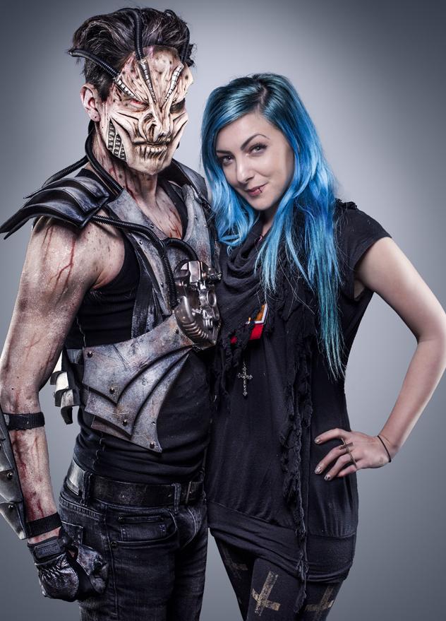 Cyborg Alien: model Cody LaCrue   Photo by Dan Herrera