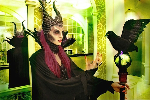 Malefacent makeup, model Aja U | Photo and makeup by Nicole Chilelli