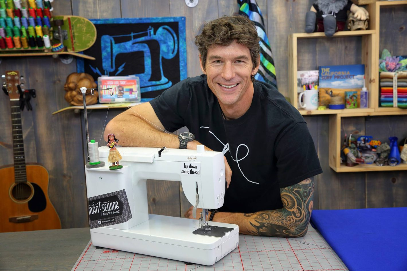 rob q appell headshot man quilting sewing quilt meet a