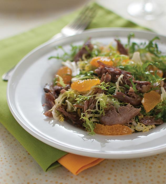 {Confit Salad with Frisée}
