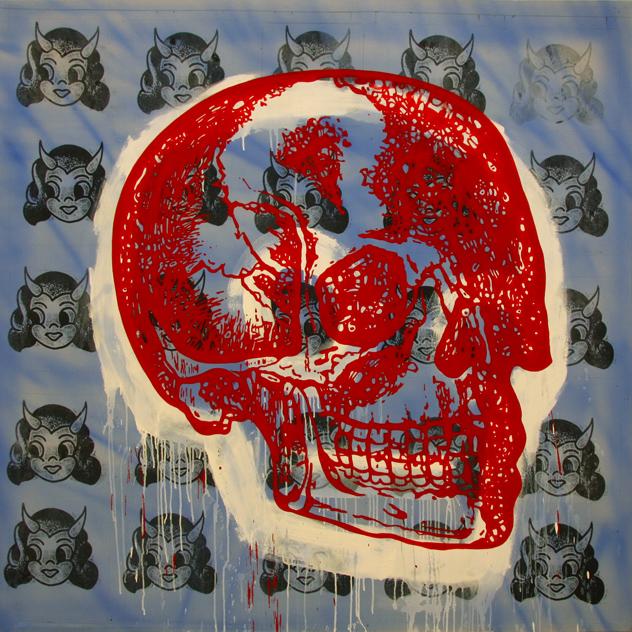 "{Sybil • Acrylic on Canvas • 75"" x 75"" • 2012}"