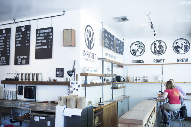 {Inside Insight Coffee at  S and 8th streets}