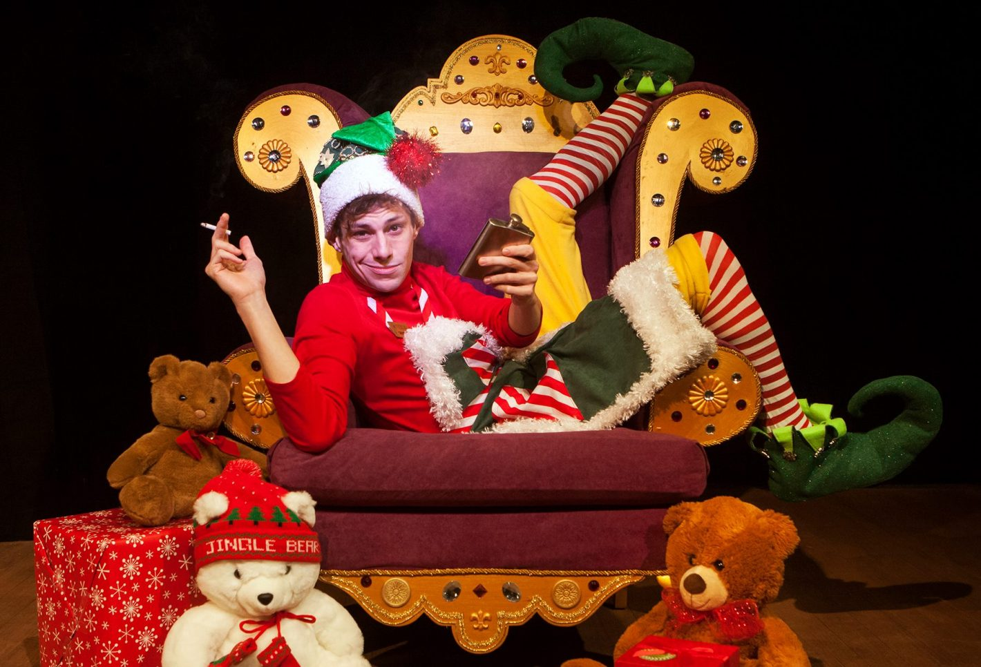 Benjamin T. Ismail as Crumpet the Elf | Photo by Charr Crail
