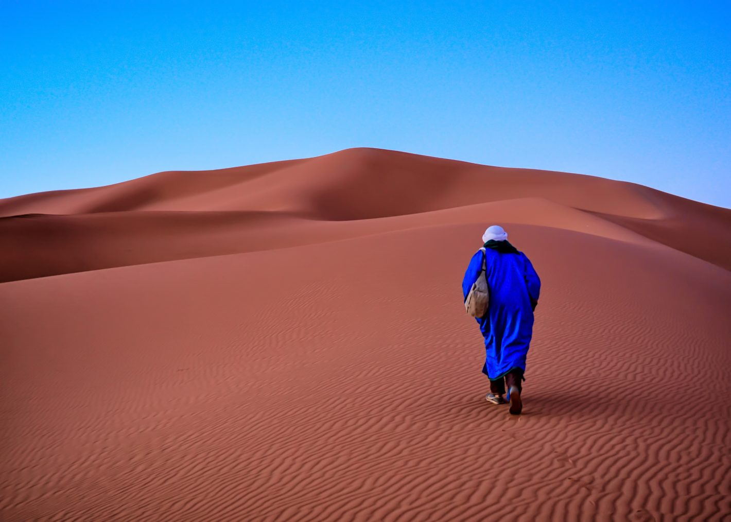 Morroco -Cyrus Javis_Man and Sand Dune